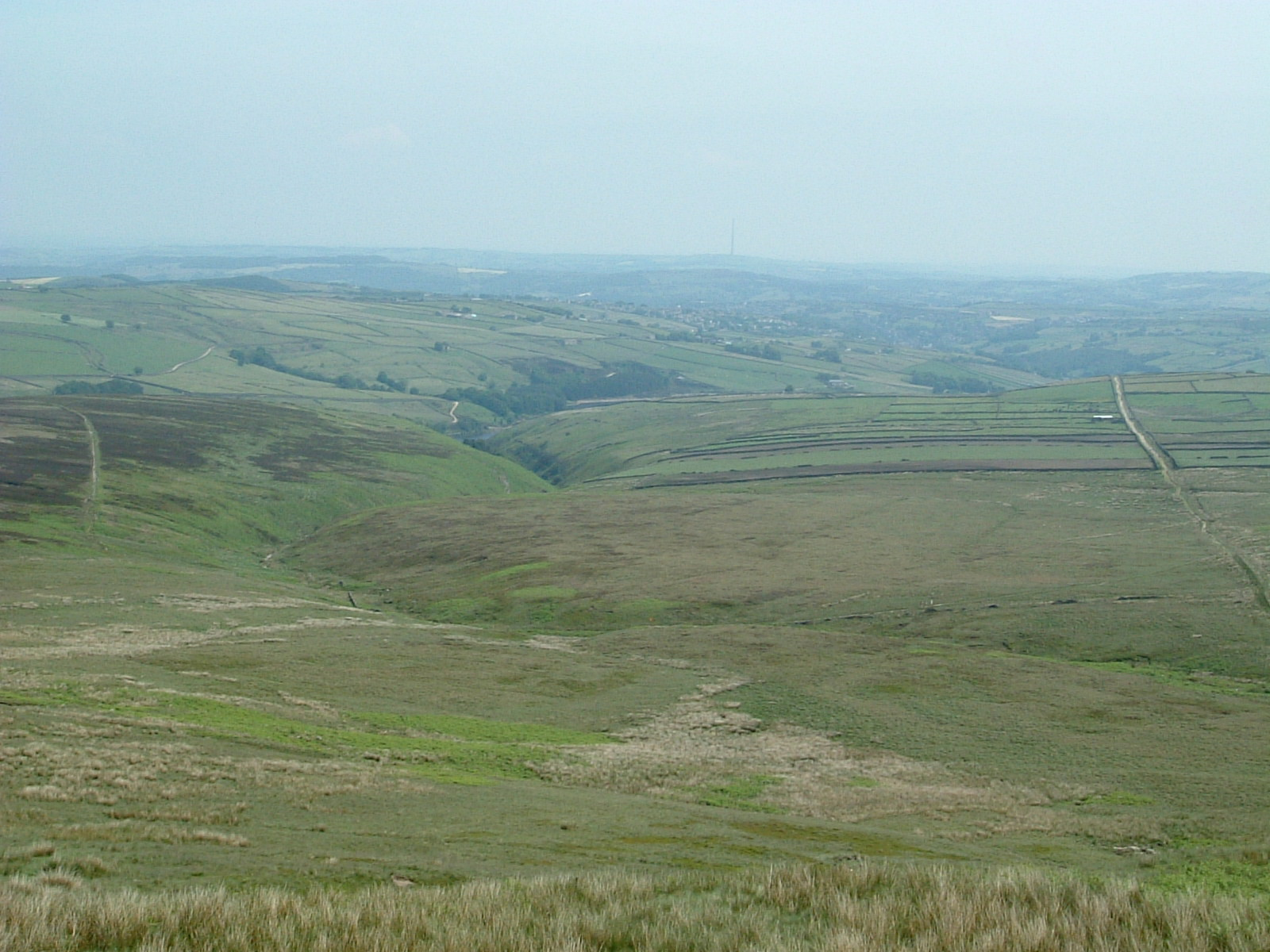 A distant Holmfirth from Black Hill
