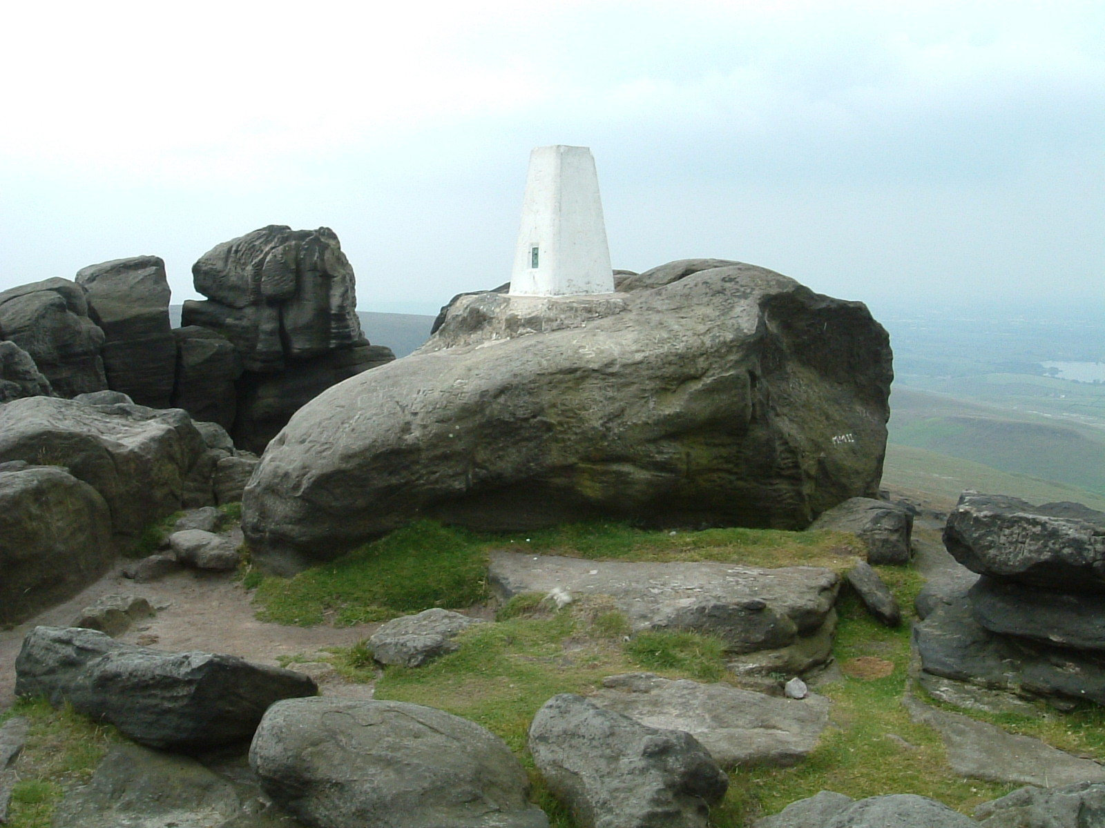 The trig point on Blackstone Edge Moor