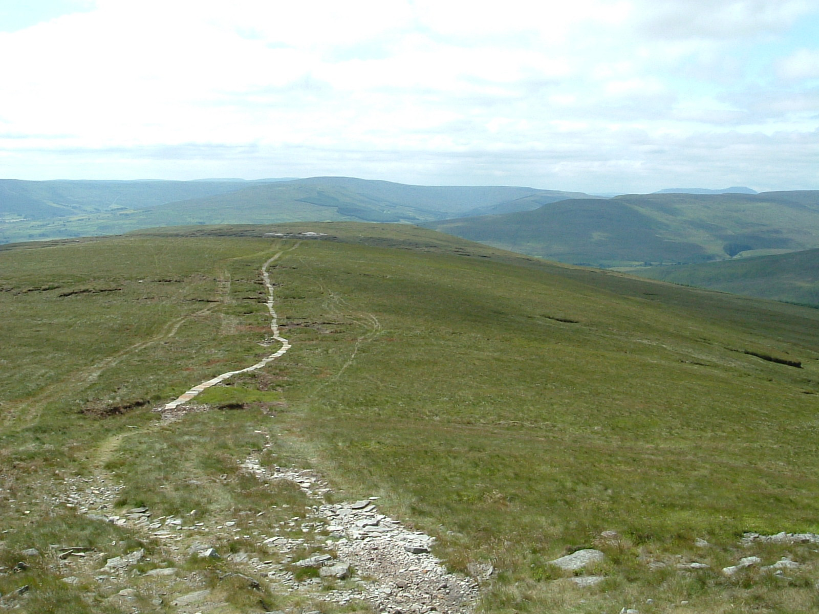 The track up Great Shunner Fell