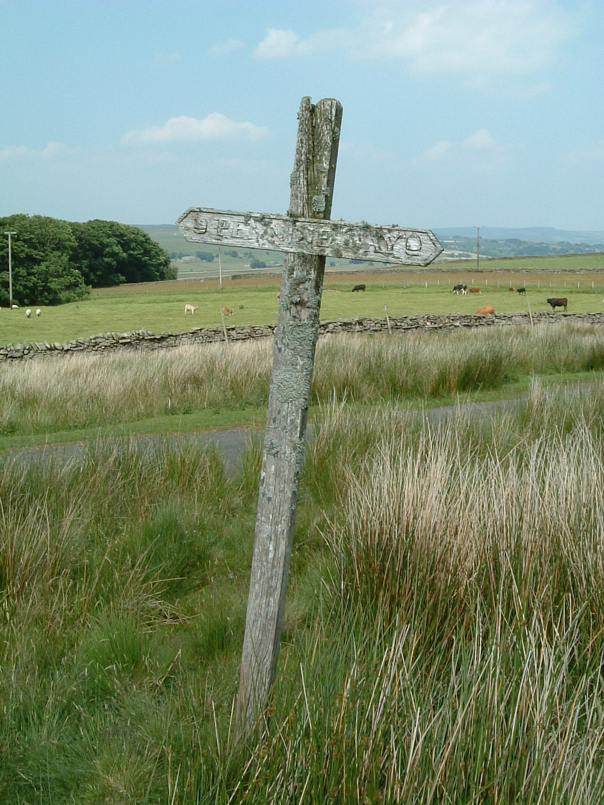 A Pennine Way signpost