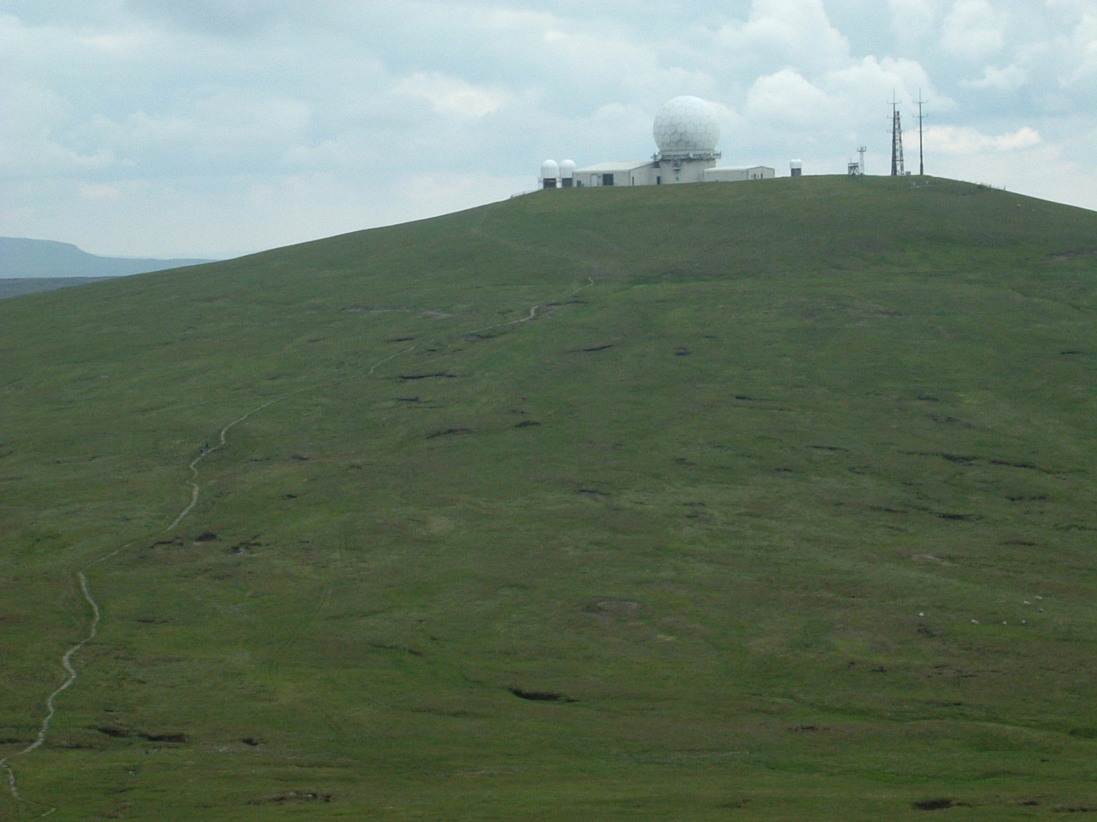 The radar station on Great Dun Fell