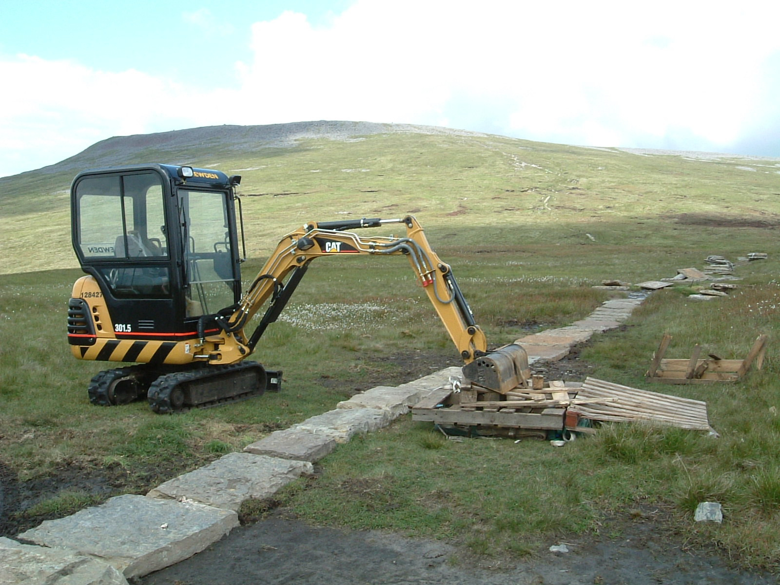 Repair work on the way to Cross Fell