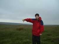 Mark giving the thumbs down on Ickornshaw Moor