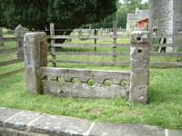 Stocks in the church of St Michael the Archangel, Kirkby Malham
