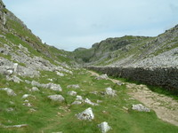 The path north of Malham Cove