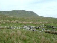 Looking back towards Pen-y-Ghent