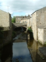 The river that runs through the centre of Hawes