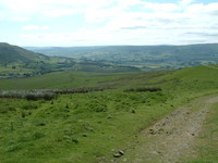 Looking back to Hawes from the lower slopes of Great Shunner Fell