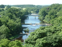 The River Tees from the Round Tower at Barnard Castle