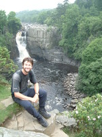 Mark taking a break in full view of High Force