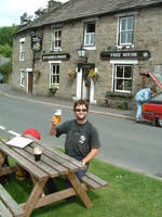 Mark and his pint in the George and Dragon, Garrigill