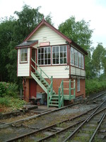 The signal box at Alston train station