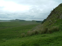 The ridge that Hadrian's Wall follows