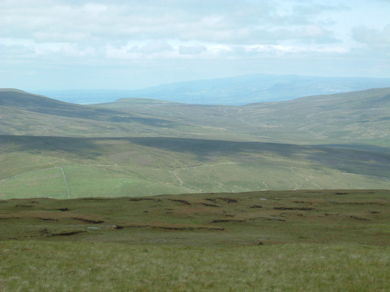 The view from Great Shunner Fell, with Cross Fell in the far distance