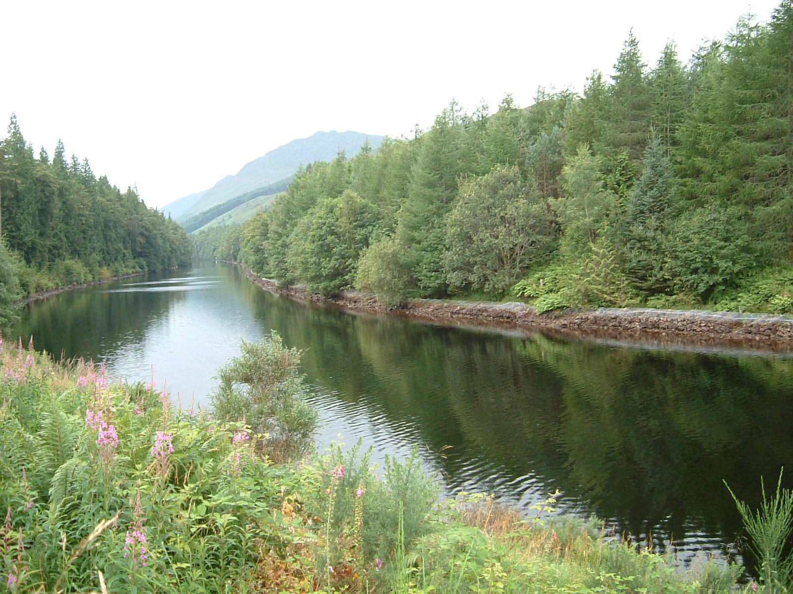 The Caledonian Canal on the approach to South Laggan