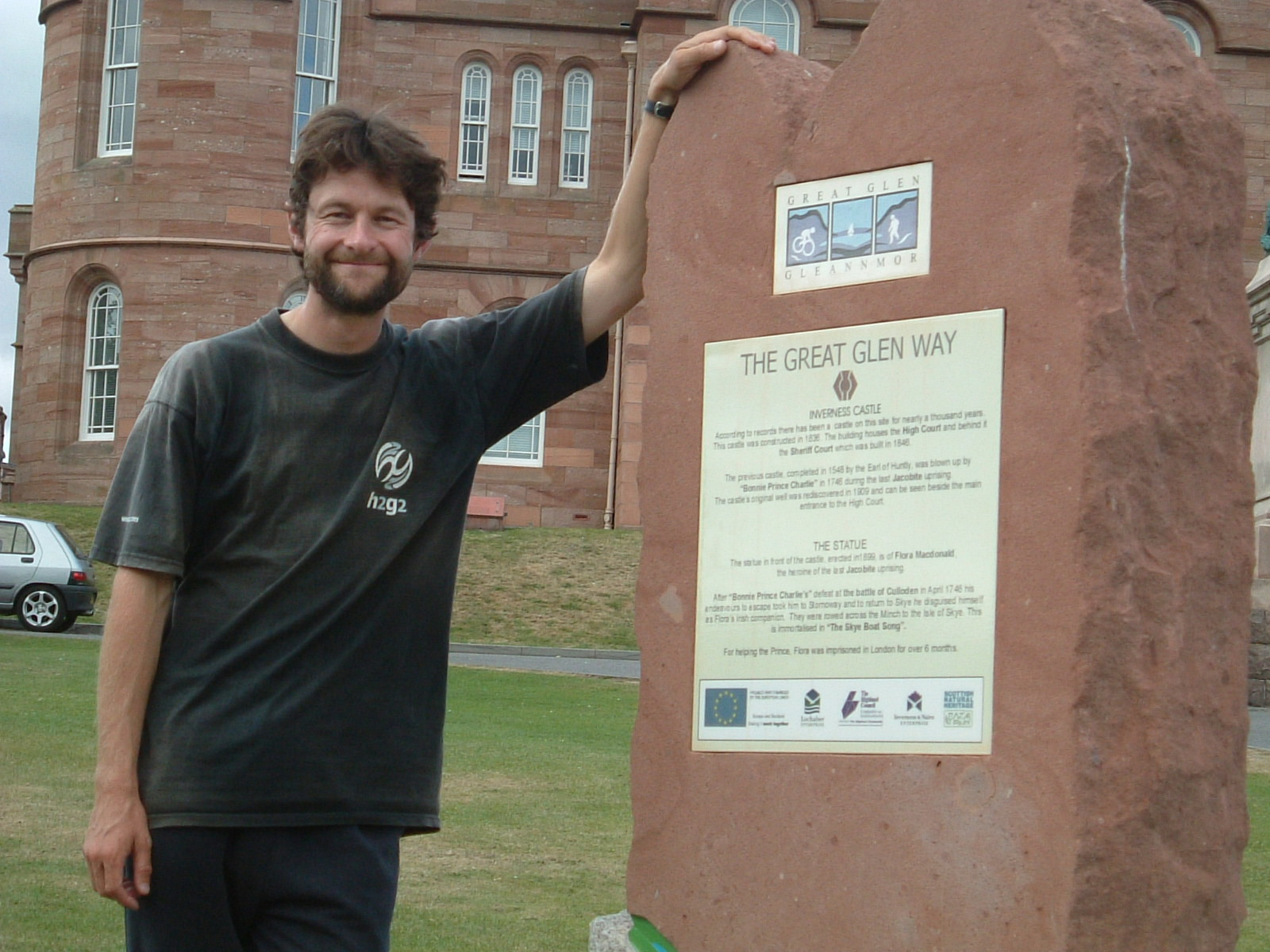 Mark at the end of the Great Glen Way