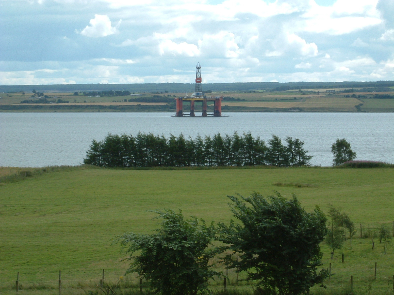 An oil rig in Cromarty Firth