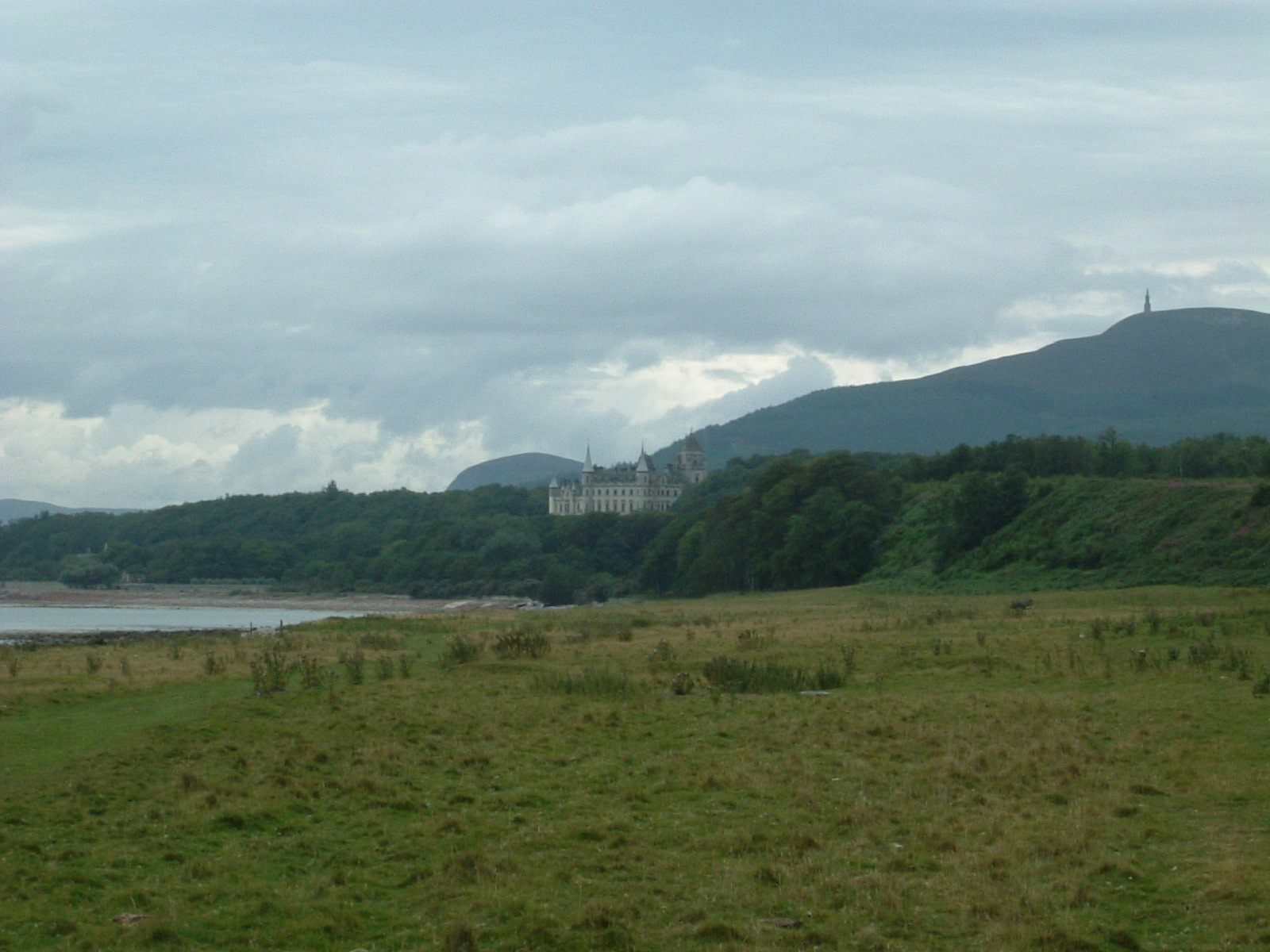 Dunrobin Castle and Ben Bhraggie
