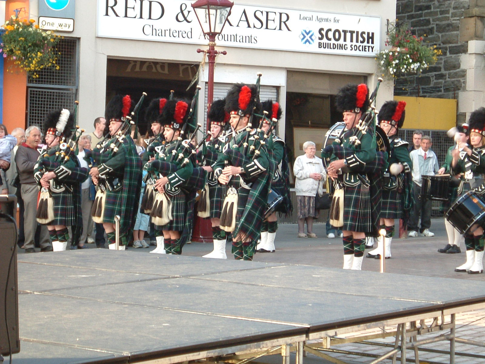 A pipe band in Wick