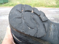 The rear sole of my left boot