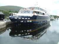 A big boat on the Caledonian Canal