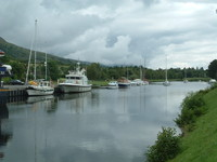 Boats on the Caledonian Canal
