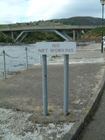A sign saying 'No Net Working'