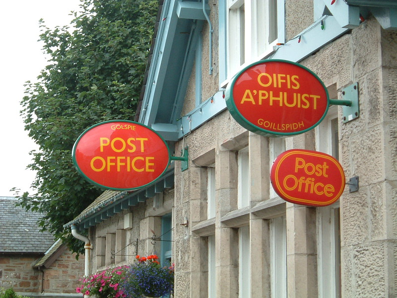 A multilingual Post Office in Golspie