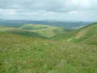 Looking into the lovely Scottish Borders from the Pennine Way