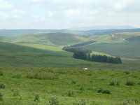 A view of the Cheviots from Dere Street