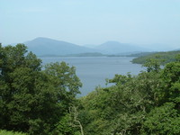 A tantalising glimpse of Loch Lomond from the West Highland Way