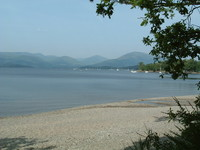 A pretty beach on Loch Lomond