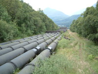 A water pipeline leading to Kinlochleven