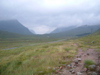 Looking towards Glen Coe from the West Highland Way