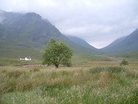 Buachaille Etive Mor and the view towards Glen Coe