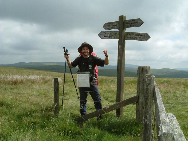 Mark leaving the Pennine Way at Dere Street
