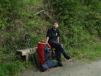 Mark taking a break on the Camel Trail near Poley's Bridge