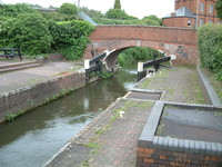 The start of the Bridgwater and Taunton Canal in Taunton