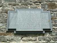 A sign declaring how Burrow Mump was given to the National Trust
