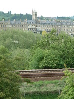 Bath from the Kennet and Avon Canal
