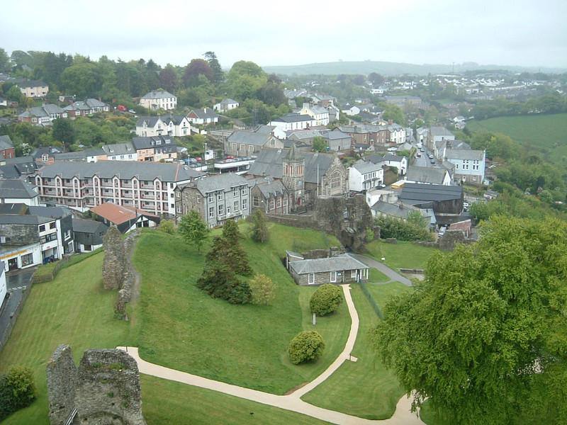 The view from Launceston Castle