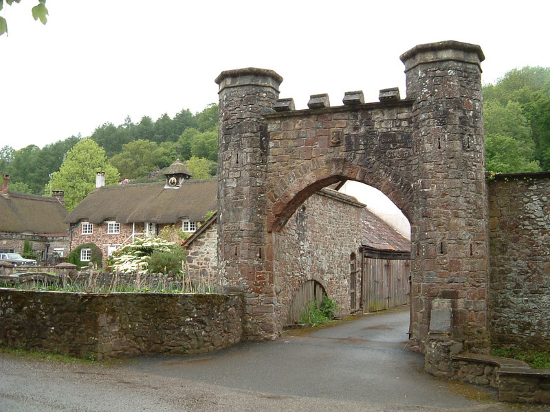 The entrance gate to Bickleigh Castle