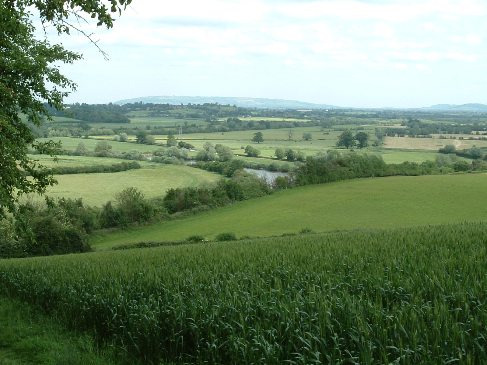The River Severn from Wainlode Hill