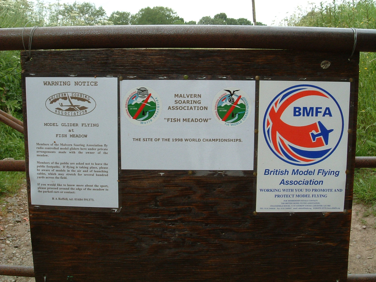 Notices about flying model aeroplanes in Upton-upon-Severn