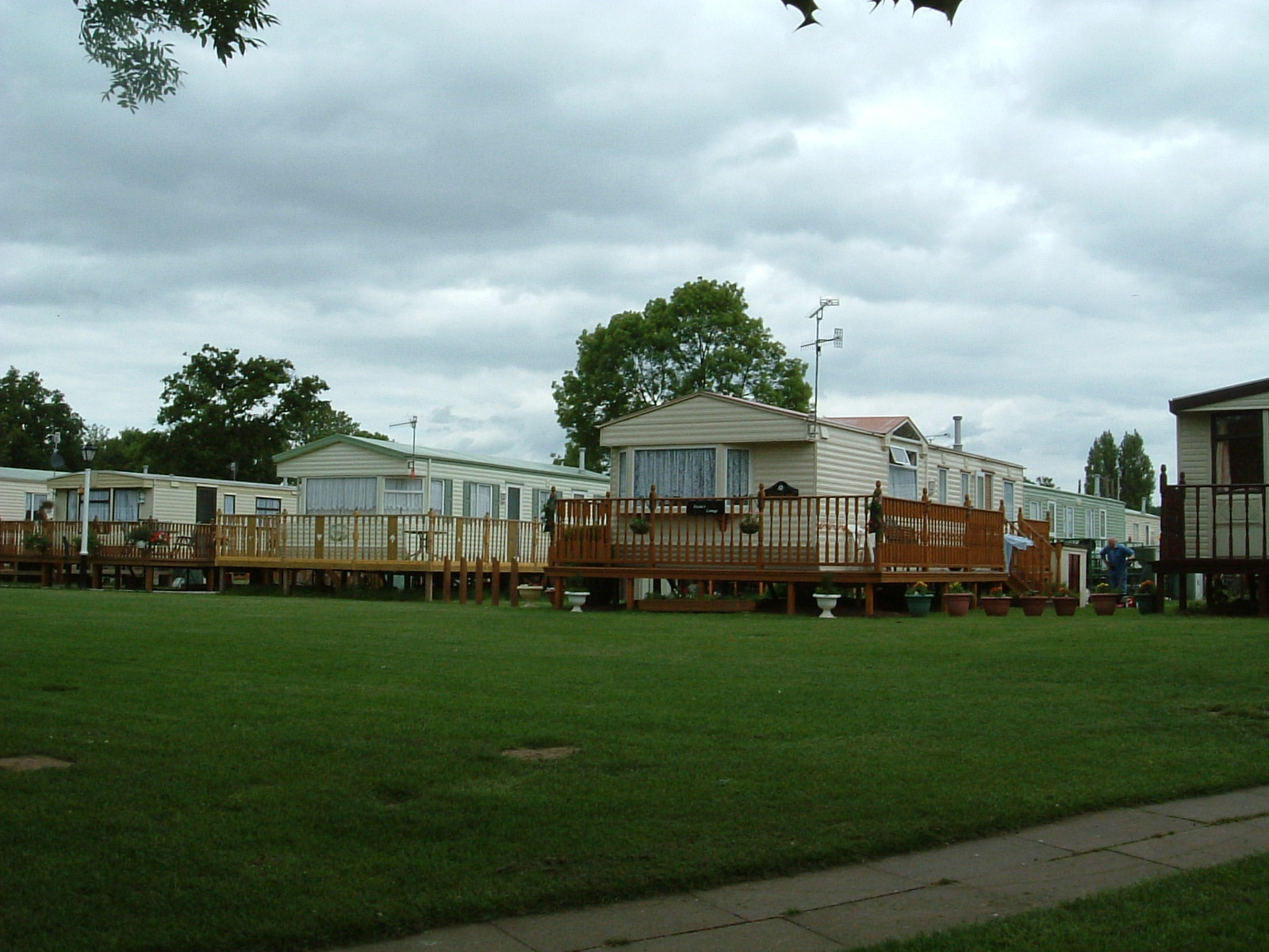 Very posh static caravans by the Severn