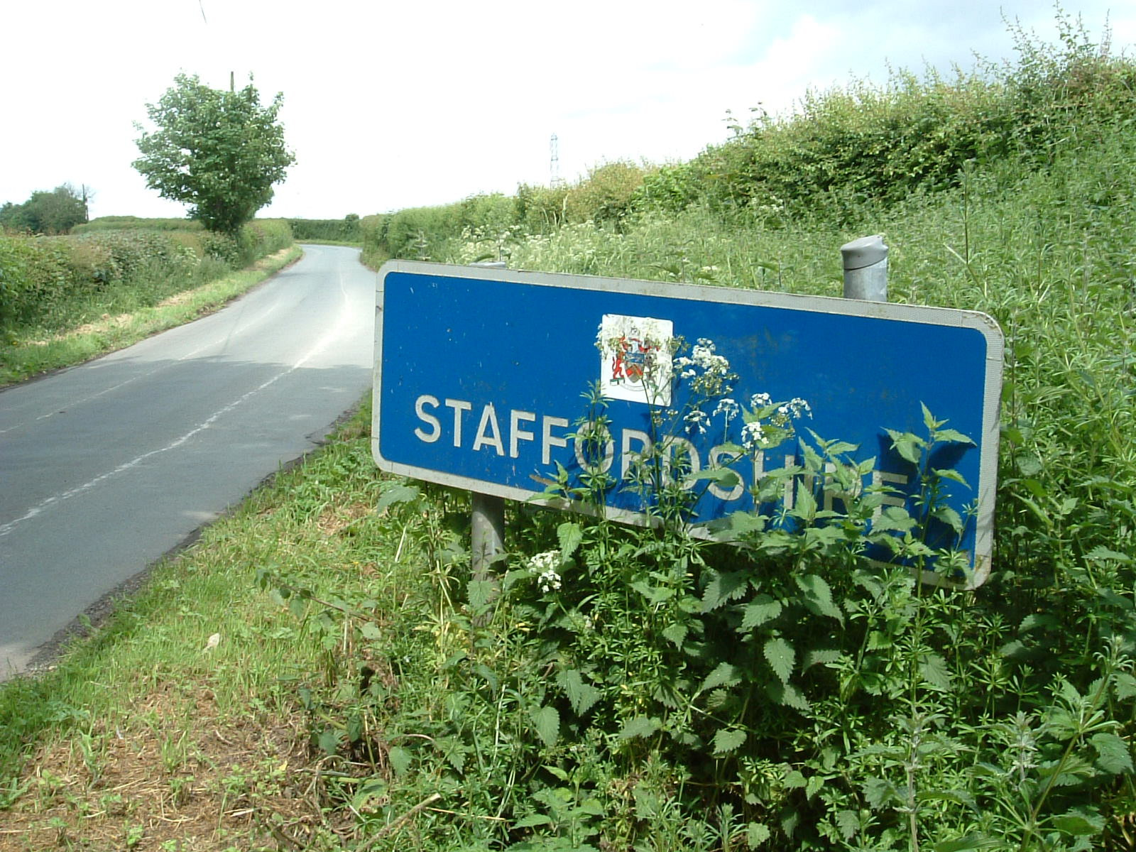 The Staffordshire border