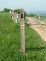 A Cotswold Way marker