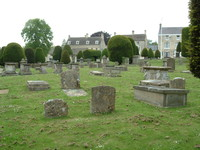 The graveyard in Painswick Church