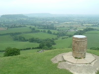 The viewpoint at Coaley Peak