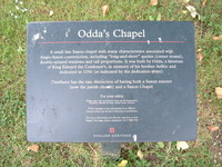 The sign outside Odda's Chapel